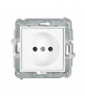 MINI Mechanizm gniazda pojedynczego bez uziemienia 2P (bez przesłon torów prądowych) Biały Karlik MGP-1