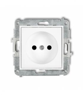 MINI Mechanizm gniazda pojedynczego bez uziemienia 2P (przesłony torów prądowych) Biały Karlik MGP-1p