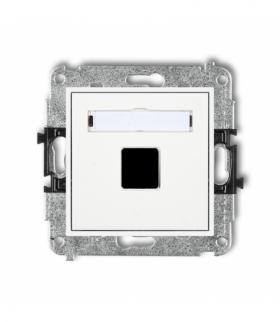 MINI Mechanizm gniazda multimedialnego pojednczego bez modułu (standard Keystone) Biały Karlik MGM-1P