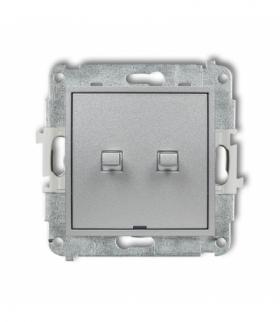 MINI Mechanizm łącznika świecznikowego w stylu amerykańskim Srebrny metalik Karlik 7MWPUS-2