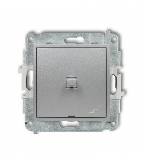 MINI Mechanizm łącznika schodowego w stylu amerykańskim Srebrny metalik Karlik 7MWPUS-3