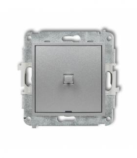 MINI Mechanizm łącznika schodowego w stylu amerykańskim (jeden klawisz bez piktogramu) Srebrny metalik Karlik 7MWPUS-3.1
