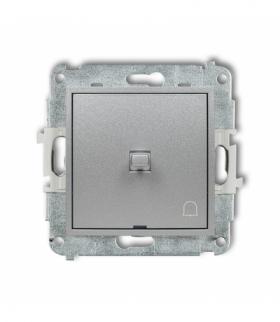 MINI Mechanizm łącznika zwierny dzwonek w stylu amerykańskim Srebrny metalik Karlik 7MWPUS-4