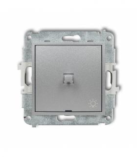 MINI Mechanizm łącznika zwierny światło w stylu amerykańskim Srebrny metalik Karlik 7MWPUS-5