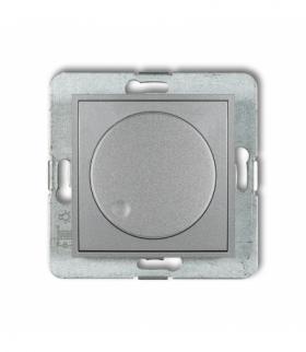 MINI Mechanizm elektronicznego regulatora oświetlenia przyciskowo-obrotowego do lamp LED Srebrny metalik Karlik 7MRO-2
