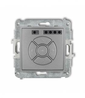 MINI Mechanizm elektronicznego sterownika roletowego (sterowanie lokalne i pilotem sterowanie strefą i podstrefą) Srebrny metali
