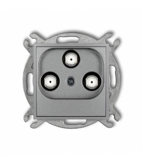 MINI Mechanizm gniazda multimedialnego 3F DATA (UPC) Srebrny metalik Karlik 7MGMU