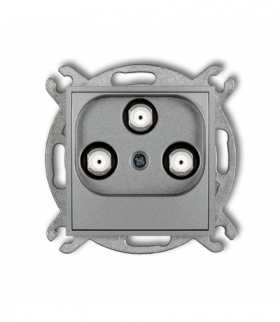 MINI Mechanizm gniazda multimedialnego 3F DATA (Vectra) Srebrny metalik Karlik 7MGMV