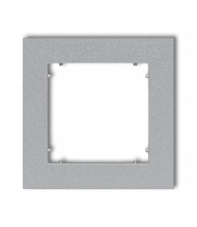 MINI Ramka uniwersalna pojedyncza z tworzywa Srebrny metalik Karlik 7MR-1