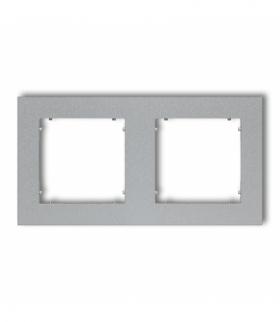 MINI Ramka uniwersalna podwójna z tworzywa Srebrny metalik Karlik 7MR-2