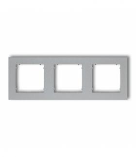 MINI Ramka uniwersalna potrójna z tworzywa Srebrny metalik Karlik 7MR-3