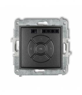 MINI Mechanizm elektronicznego sterownika roletowego (sterowanie lokalne i pilotem sterowanie strefą dodatkowy przycisk) Grafito