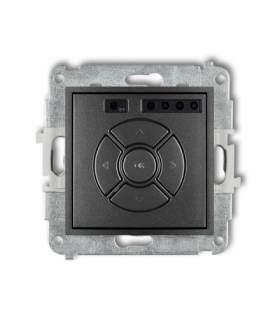 MINI Mechanizm elektronicznego sterownika roletowego (przycisk centralny/dodatkowy) Grafitowy Karlik 11MSR-6