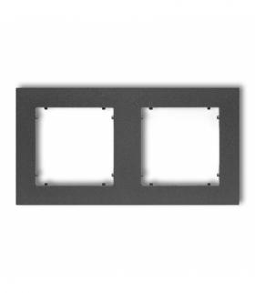 MINI Ramka uniwersalna podwójna z tworzywa Grafitowy Karlik 11MR-2