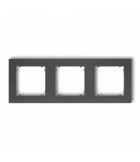 MINI Ramka uniwersalna potrójna z tworzywa Grafitowy Karlik 11MR-3