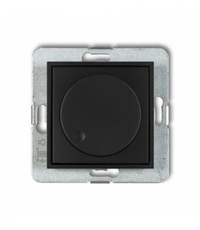 MINI Mechanizm elektronicznego regulatora oświetlenia przyciskowo-obrotowego Czarny mat Karlik 12MRO-1