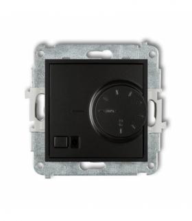 MINI Mechanizm elektronicznego regulatora temperatury z czujnikiem podpodłogowym Czarny mat Karlik 12MRT-1