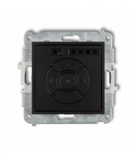 MINI Mechanizm elektronicznego sterownika roletowego (sterowanie lokalne i pilotem sterowanie strefą dodatkowy przycisk) Czarny