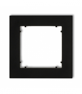 MINI Ramka uniwersalna pojedyncza z tworzywa Czarny mat Karlik 12MR-1
