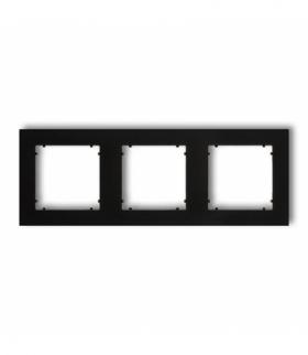 MINI Ramka uniwersalna potrójna z tworzywa Czarny mat Karlik 12MR-3