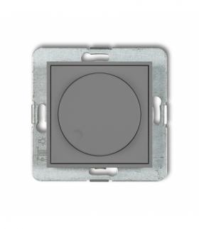 MINI Mechanizm elektronicznego regulatora oświetlenia przyciskowo-obrotowego do lamp LED Szary mat Karlik 27MRO-2