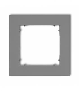 MINI Ramka uniwersalna pojedyncza z tworzywa Szary mat Karlik 27MR-1