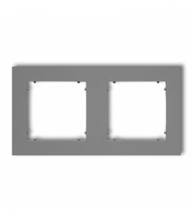 MINI Ramka uniwersalna podwójna z tworzywa Szary mat Karlik 27MR-2