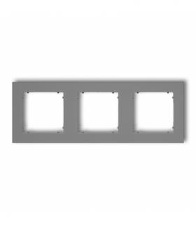 MINI Ramka uniwersalna potrójna z tworzywa Szary mat Karlik 27MR-3