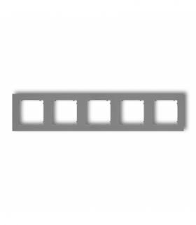 MINI Ramka uniwersalna pięciokrotna z tworzywa Szary mat Karlik 27MR-5