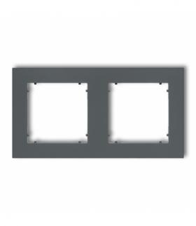 MINI Ramka uniwersalna podwójna z tworzywa Grafitowy mat Karlik 28MR-2