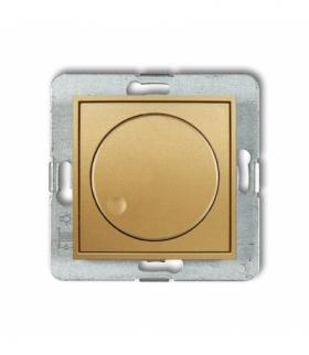 MINI Mechanizm elektronicznego regulatora oświetlenia przyciskowo-obrotowego do lamp LED Złoty Karlik 29MRO-2