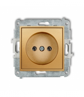 MINI Mechanizm gniazda pojedynczego bez uziemienia 2P (bez przesłon torów prądowych) Złoty Karlik 29MGP-1