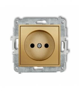 MINI Mechanizm gniazda pojedynczego bez uziemienia 2P (przesłony torów prądowych) Złoty Karlik 29MGP-1p