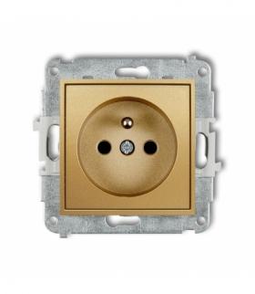 MINI Mechanizm gniazda pojedynczego z uziemieniem 2P+Z (przesłony torów prądowych) Złoty Karlik 29MGP-1zp