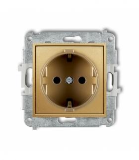 MINI Mechanizm gniazda pojedynczego z uziemieniem SCHUKO 2P+Z (przesłony torów prądowych) Złoty Karlik 29MGP-1sp