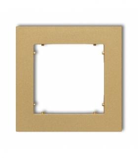 MINI Ramka uniwersalna pojedyncza z tworzywa Złoty Karlik 29MR-1
