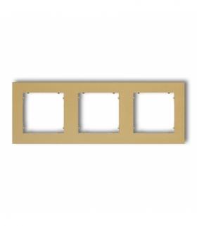 MINI Ramka uniwersalna potrójna z tworzywa Złoty Karlik 29MR-3