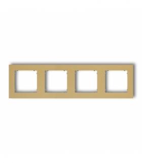MINI Ramka uniwersalna poczwórna z tworzywa Złoty Karlik 29MR-4