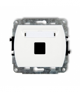 TREND Mechanizm gniazda multimedialnego pojednczego bez modułu (standard Keystone) Biały Karlik GM-1P