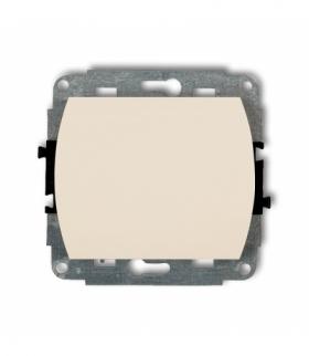 TREND Mechanizm łącznika schodowego podświetlany (jeden klawisz bez piktogramu) Beżowy Karlik 1WP-3L.1