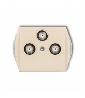 TREND Mechanizm gniazda multimedialnego 3F DATA (UPC) Beżowy Karlik 1GMU
