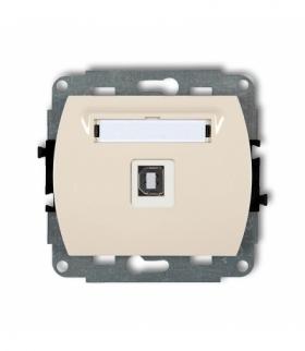 TREND Mechanizm gniazda pojedynczego USB-AB 2.0 Beżowy Karlik 1GUSB-3
