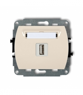 TREND Mechanizm gniazda pojedynczego USB-AA 3.0 Beżowy Karlik 1GUSB-5