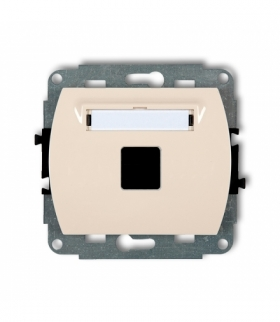 TREND Mechanizm gniazda multimedialnego pojednczego bez modułu (standard Keystone) Beżowy Karlik 1GM-1P