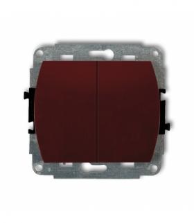 TREND Mechanizm łącznika podwójnego schodowego (dwa klawisze bez piktogramów) Brązowy Karlik 4WP-33.1