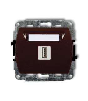 TREND Mechanizm gniazda pojedynczego USB-AA 2.0 Brązowy Karlik 4GUSB-1