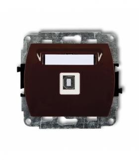 TREND Mechanizm gniazda pojedynczego USB-AB 2.0 Brązowy Karlik 4GUSB-3