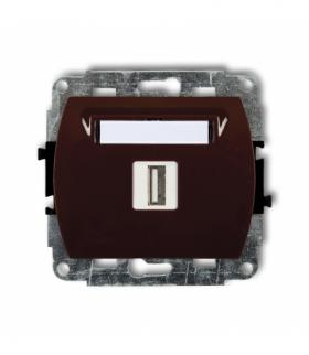 TREND Mechanizm gniazda pojedynczego USB-AA 3.0 Brązowy Karlik 4GUSB-5
