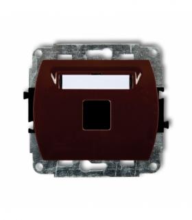 TREND Mechanizm gniazda multimedialnego pojednczego bez modułu (standard Keystone) Brązowy Karlik 4GM-1P