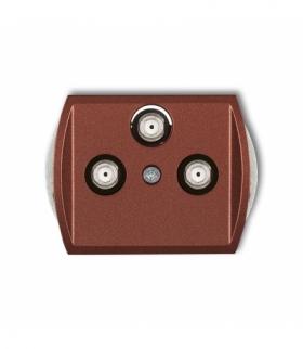 TREND Mechanizm gniazda multimedialnego 3F DATA (Vectra) Brązowy metalik Karlik 9GMV